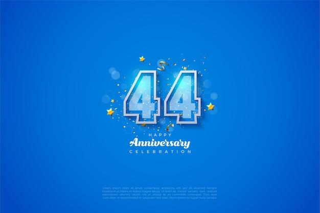 44. rocznica z podwójną ramką