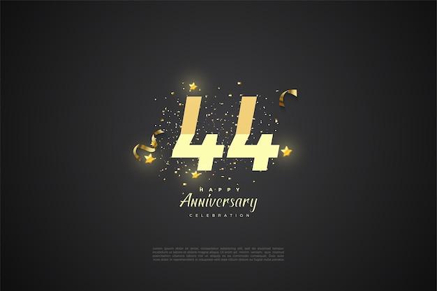 44. rocznica ze stopniowanymi numerami