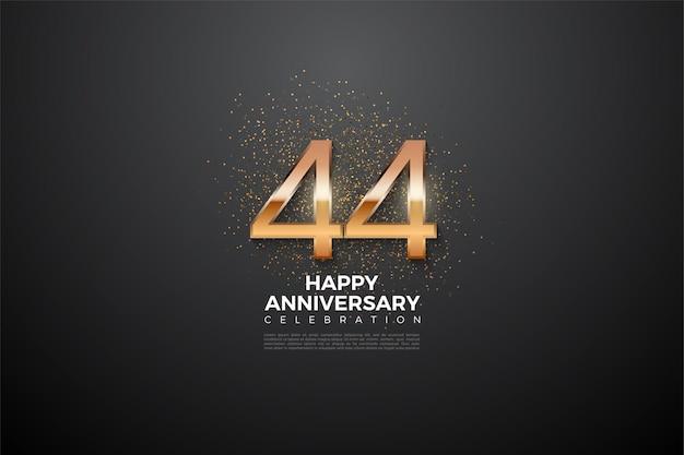44. rocznica ze świecącymi cyframi