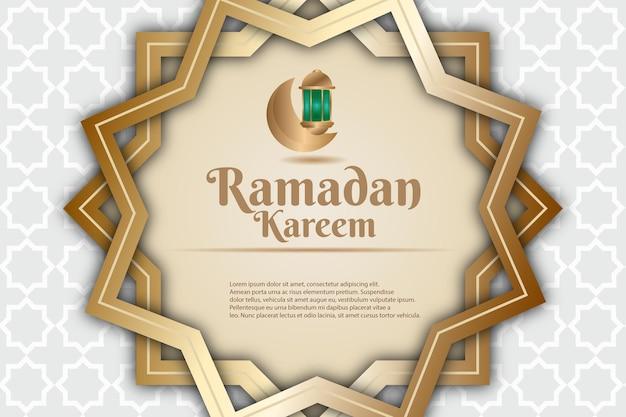 47luxury ramadan kareem kolor tła żółty zielony i kremowy
