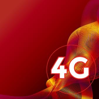 4g szablon prezentacji promocyjnej superszybka mobilna technologia internetowa 4g