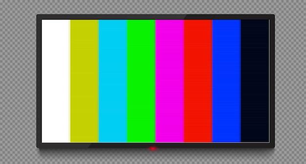 4k wektor ekranu telewizora. telewizor lcd lub led. brak sygnału