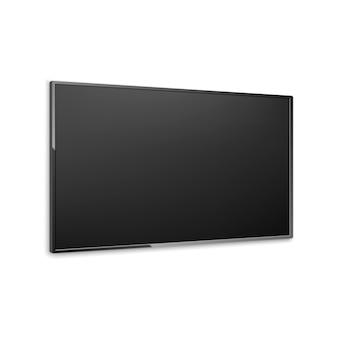 4k wektor ekranu telewizora. telewizor lcd lub led