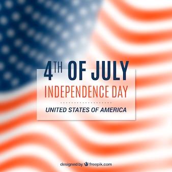 4th lipa tło z flaga amerykańską