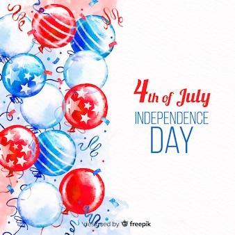 4th lipiec - dnia niepodległości tło z balonami