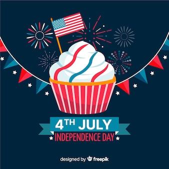 4th lipiec - tło dzień niepodległości