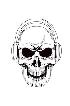 5. klasyczny vintage wektor czaszki