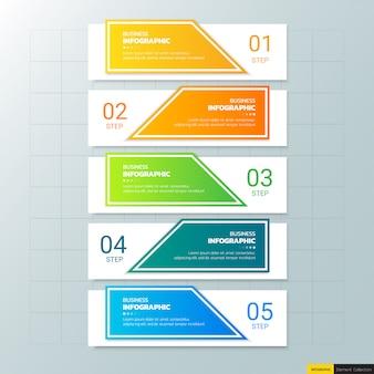 5 kroków infographic szablon