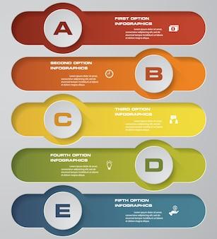 5 kroków przetwarza element projektu infografiki.
