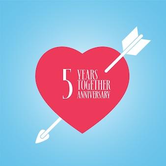 5 rocznica ślubu lub małżeństwa