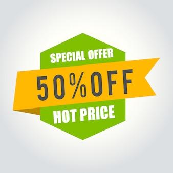50% projekt baneru sprzedaży na gorąco