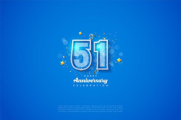 51. rocznica z nowoczesnym designem