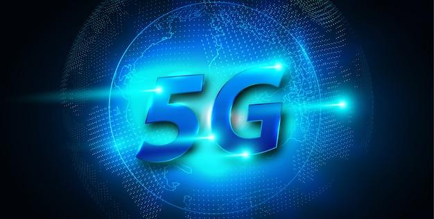5g nowy banner połączenia bezprzewodowego internetu wi-fi