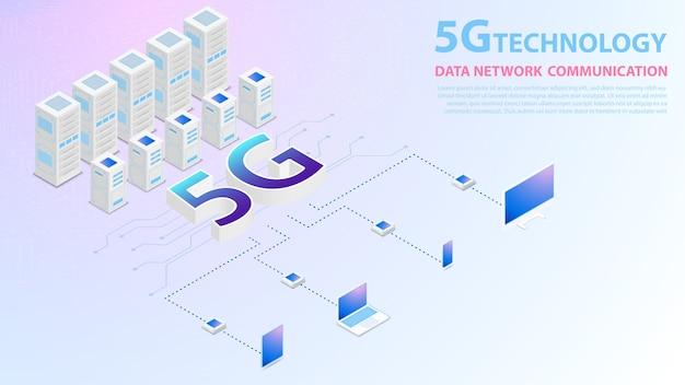 5g technologia danych sieć komunikacji bezprzewodowy internet hispeed