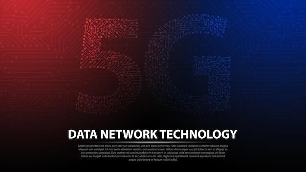 5g tło technologii sieci danych