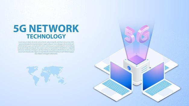 5g wieża łączności bezprzewodowy internet hispeed z centrum danych