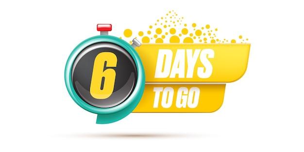 6 dni, aby przejść szablon projektu banera