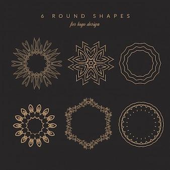 6 kształty okrągłe