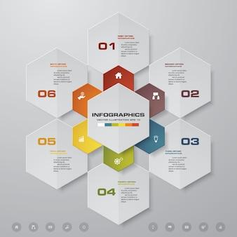 6 opcji prezentacji biznesu infografiki szablon.