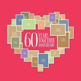 60 lat ślubu lub małżeństwa
