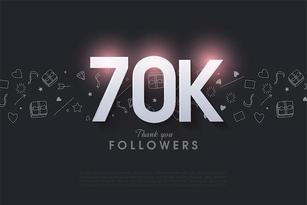 60 tys. obserwujących z podświetlaną ilustracją liczby na górze.