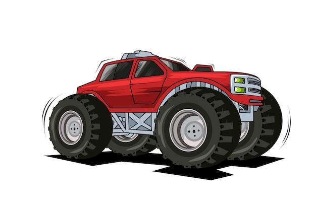 62. czerwony monster truck