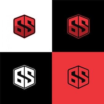 65 początkowy szablon logo sportu sześciokątnego