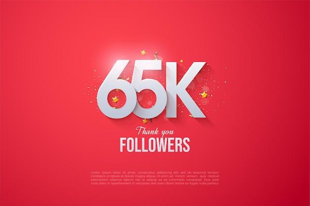 65 tys. obserwujących z nakładającymi się liczbami