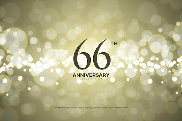 66. rocznica na tle złotej folii