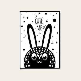 68. cute me bunny skandynawskie plakaty
