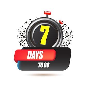 7 dni, aby przejść szablon projektu banera