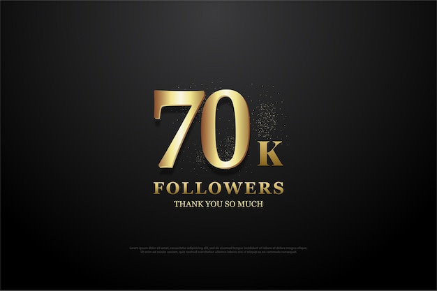 70 tysięcy wyznawców z jasnymi złotymi numerami