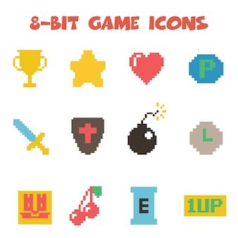 8-bitowe ikony przedmiotów
