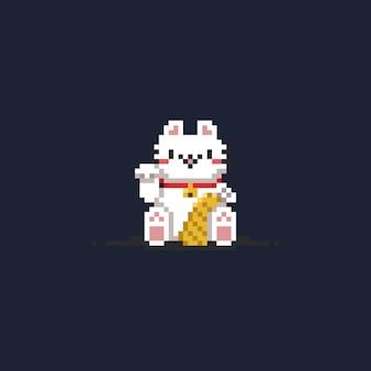 8-bitowy szczęśliwy kot.