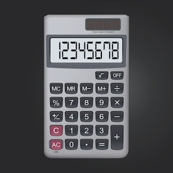 8 cyfrowy kalkulator realistyczny ikona