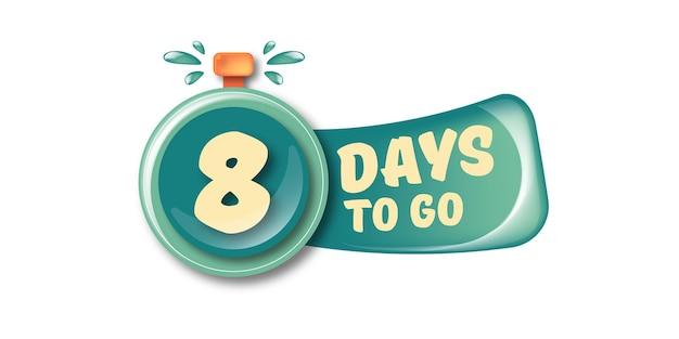 8 dni, aby przejść szablon projektu banera