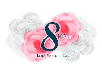 8 marca dzień kobiet piękny projekt karty