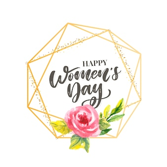 8 marca. karta gratulacyjna happy woman's day