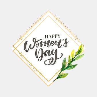 8 marca. karta gratulacyjna happy woman's day