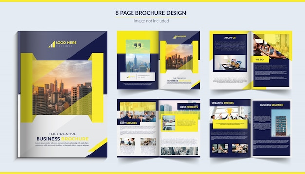 8 stron korporacyjnej broszury