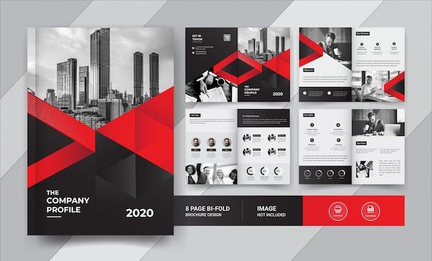 8-stronicowy projekt broszury korporacyjnej