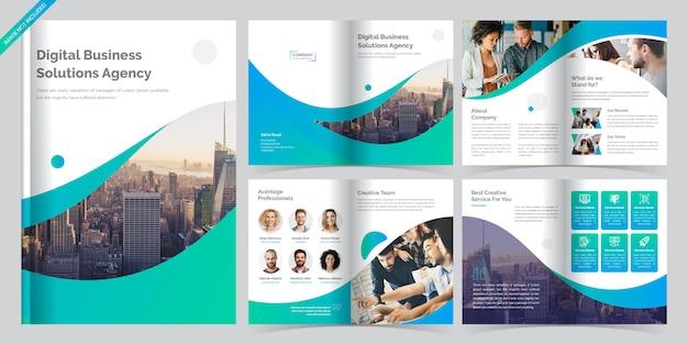 8-stronicowy szablon broszury biznesowej