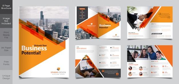 8-stronicowy szablon broszury korporacyjnej