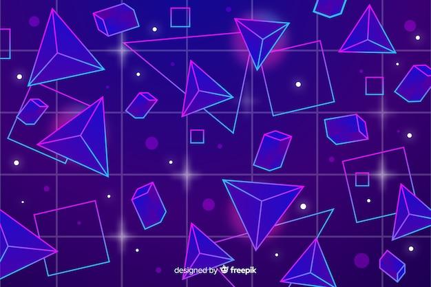 80 styl tło z geometrycznymi kształtami