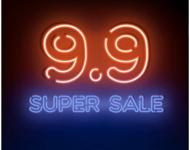 9.9 super sprzedaż szablon wektor