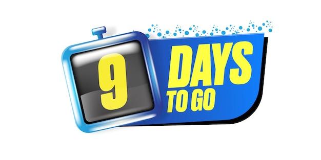 9 dni, aby przejść szablon projektu banera