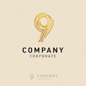 9 wektor logo firmy