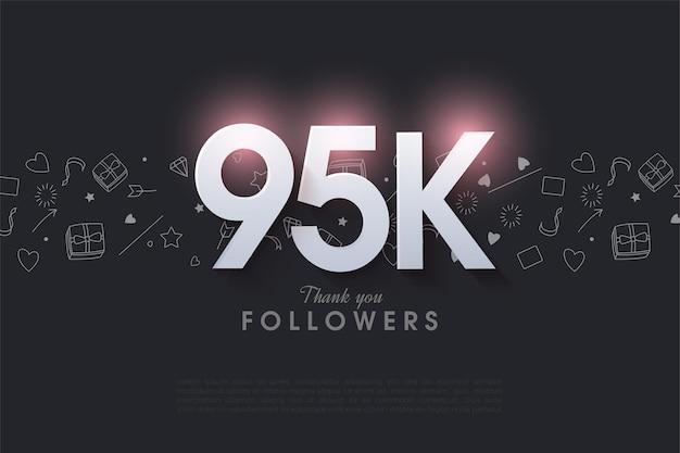 95 tys. obserwujących z błyszczącymi liczbami 3d