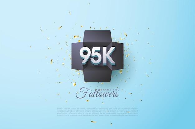 95 tys. obserwujących z ilustracjami liczb w czarnej skrzynce