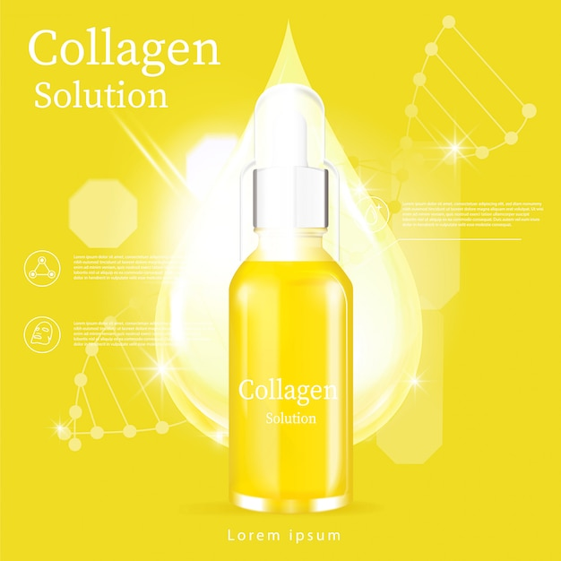 À¹ yellow serum facial treatment essence skin care cosmetic
